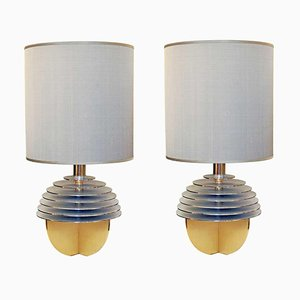 Italian Globe Table Lamps by Banci Firenze for Banci, 1970s, Set of 2
