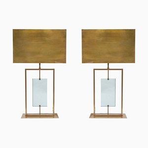Tischlampen im Stil von Fontana Arte, 1980er, 2er Set