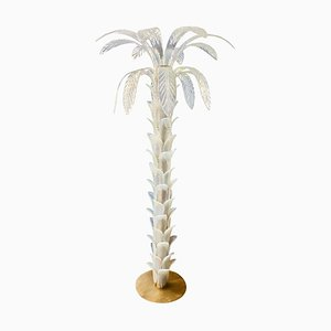 Murano Glass Palm Tree Floor Lamp, 1980s