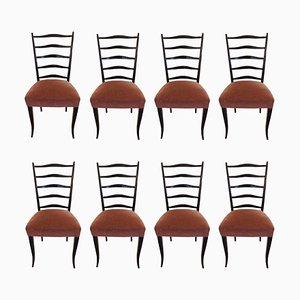 Chaises d'Ecole par Osvaldo Borsani, 1940s, Set de 8