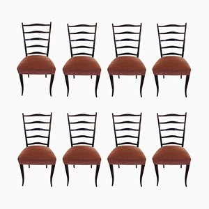 School Chairs by Osvaldo Borsani, 1940s, Set of 8