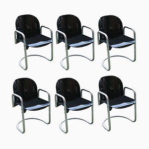 Vintage Chairs by Afra and Tobia Scarpa, Set of 6