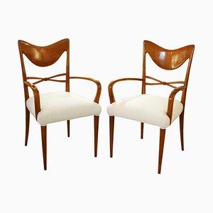 Stühle im Stil von Osvaldo Borsani, 1940er, 2er Set