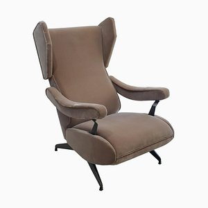 Italian Reclinable Armchair by Nello Pini, 1950s