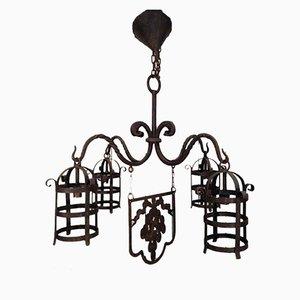 Lámpara de araña de hierro forjado