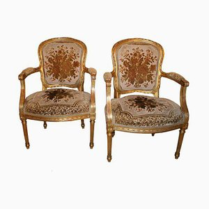 French Armchairs, 1920s, Set of 2