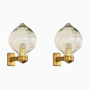 Italienische Wandlampen von Seguso, 1950er, 2er Set