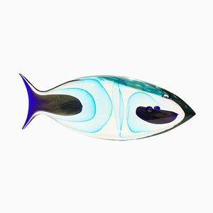 Murano Glas Fisch Skulptur von Romano Dona, 1980er