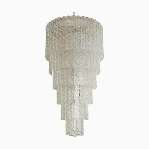 Große und Lange Murano Deckenlampe, 1960er
