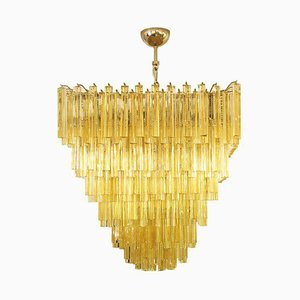 Amber Triedri Ceiling Lamp from Venini, 1960s