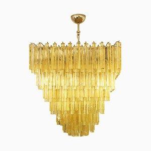 Amber Triedri Ceiling Lamp from Venini, 1960s