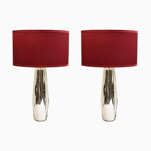 Diamond-Shape Table Lamps, 1970s, Set of 2