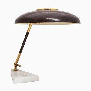 Italian Braune Tischlampe mit Farblichtern von Stilux, 1950er