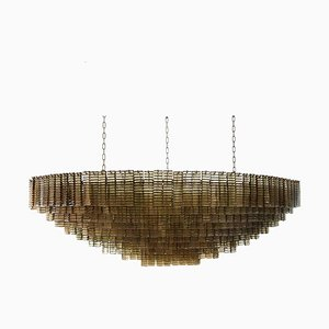 Large Murano Piastre Glass Chandelier, 2000s