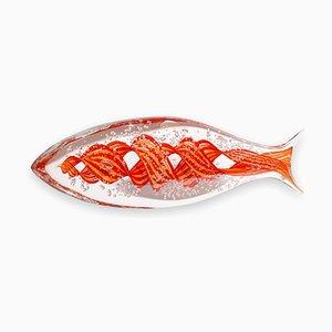 Murano Glas Fisch von Alberto Dona, 1980er