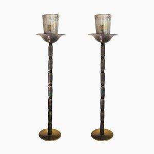 Stehlampen von Barovier & Toso, 1960er, 2er Set