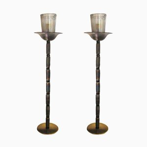 Floor Lamps from Barovier & Toso, 1960s, Set of 2