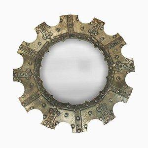 Italienischer Schmiedeeisen Spiegel, 1950er