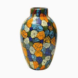 Vase en Verre Soufflé par Vittorio Ferro, 1998