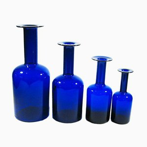 Bottles by Otto Bauer for Holmegaard, 1960s, Set of 4