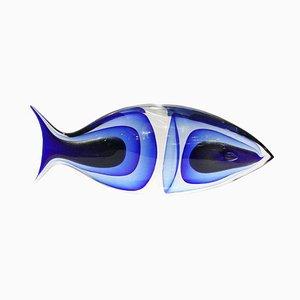 Große Glas Fisch Skulptur von Romano Dona, 1960er
