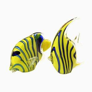 Glas Fisch Skulpturen, 1980er, 2er Set