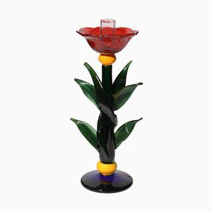 Art Glass Candleholder by Silvano Signoretto, 1980s