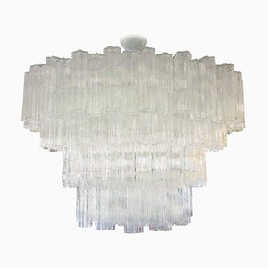 Large Tubi Irregolari Chandelier from Venini, 1960s