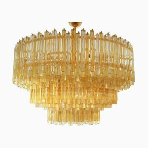 Triedri Chandelier from Venini, 1980s