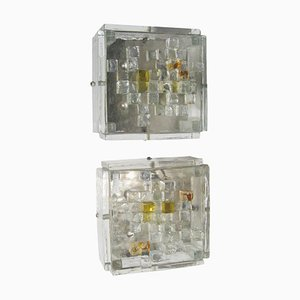 Wall Lights in the Style of Poliarte, 1970s, Set of 2