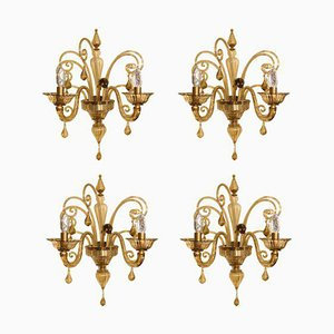 Venetian Sconces, 1940s, Set of 4