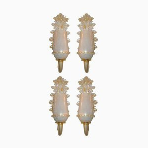 Sconces from Barovier & Toso, 1960s, Set of 4