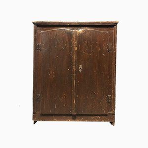 Dutch Brown Farmer's Cupboard, 1800s
