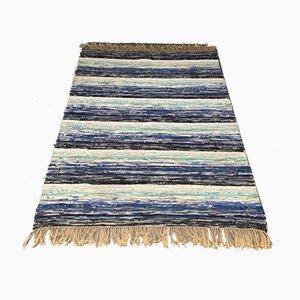 Großer schwedischer Teppich in Blau