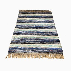 Large Swedish Rug in Blue