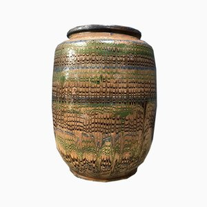 Earthenware Pot with Colored Glaze