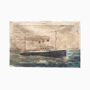 Steamboat Gemälde von Cap Polonio, 1930er