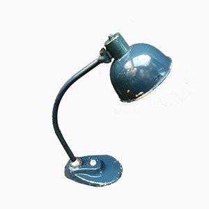 Azurblaue Tischlampe, 1950er