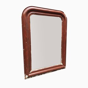 Biedermeier Bordeaux Red Weathered Mirror, 1920s