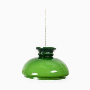 Grüne Deckenlampe aus Opalglas