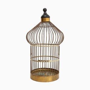 Vintage Brass Birdcage, 1970s