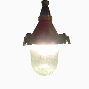 Lampada da soffitto CCCP industriale vintage, 1973