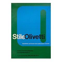 Poster della mostra Stile Olivetti a Monaco di Walter Ballmer, 1962