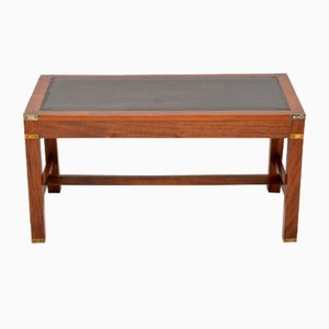 Mahogany Leather Top Coffee Table, 1950s