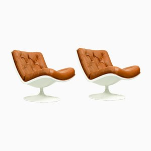 Mid-Century Model F976 Lounge Chairs by Geoffrey Harcourt for Artifort, Set of 2