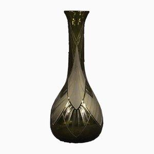 Französische Glasvase von Legras, 1920er