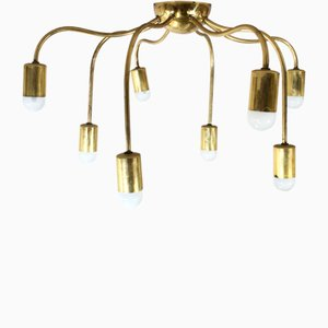Vintage Brass Model Spindeln Ceiling Lamp by Josef Frank for Svenskt Tenn