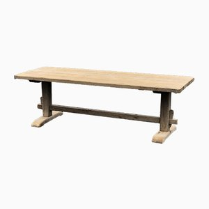 French Bleached Oak Long Refectory Dining Table