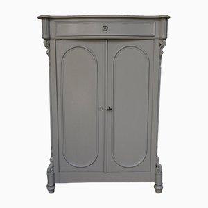 Antique Louis Philippe Gray Cabinet