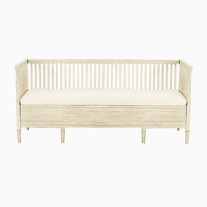 Gustavian Swedish Fluted Bench